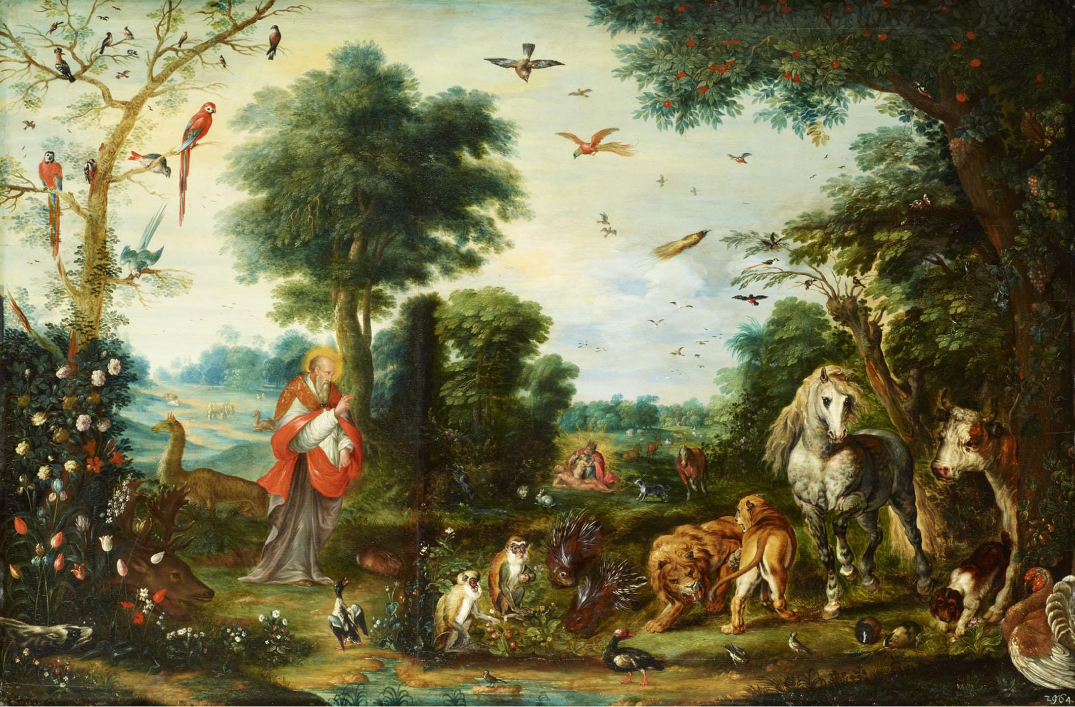 Jan Breughel d. J. und Werkstatt, Paradieslandschaft mit der Ers